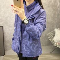 冲锋衣女士三合一可拆卸两件套女潮牌加绒加厚冬季韩国户外登山服
