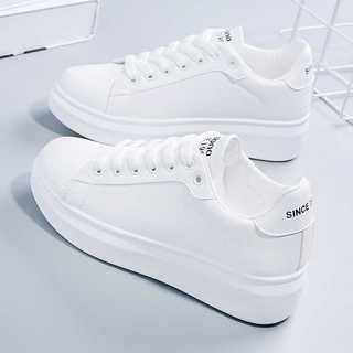 鸿星尔克小白鞋女年春季新款百搭春秋运动女鞋白鞋爆款厚底休闲板