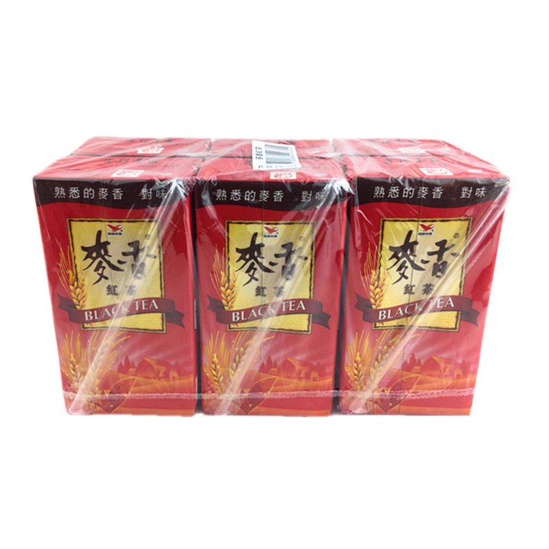 Taiwans tea drinks unified Mai Xiang black tea milk tea green tea carton packed in 6 boxes