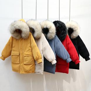 以纯A21专柜正品2019冬季桃皮绒棉服女中长款羽绒棉衣宽松韩版中