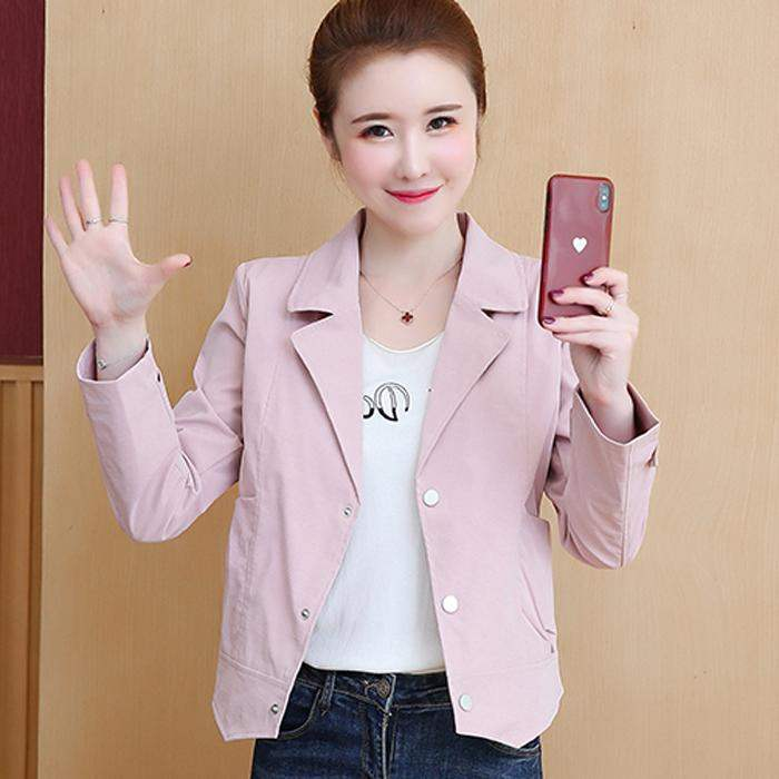 Authentic tricolor white a21p counter February August small suit jacket short thin jacket womens spring and Autumn