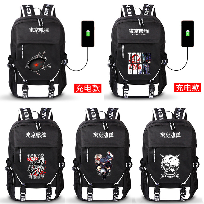 Customized Tokyo Ghoul schoolbag Japanese cute cute cartoon cartoon animation backpack for male and female students around