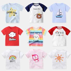 女宝宝短袖0男小童婴儿童装1 t恤