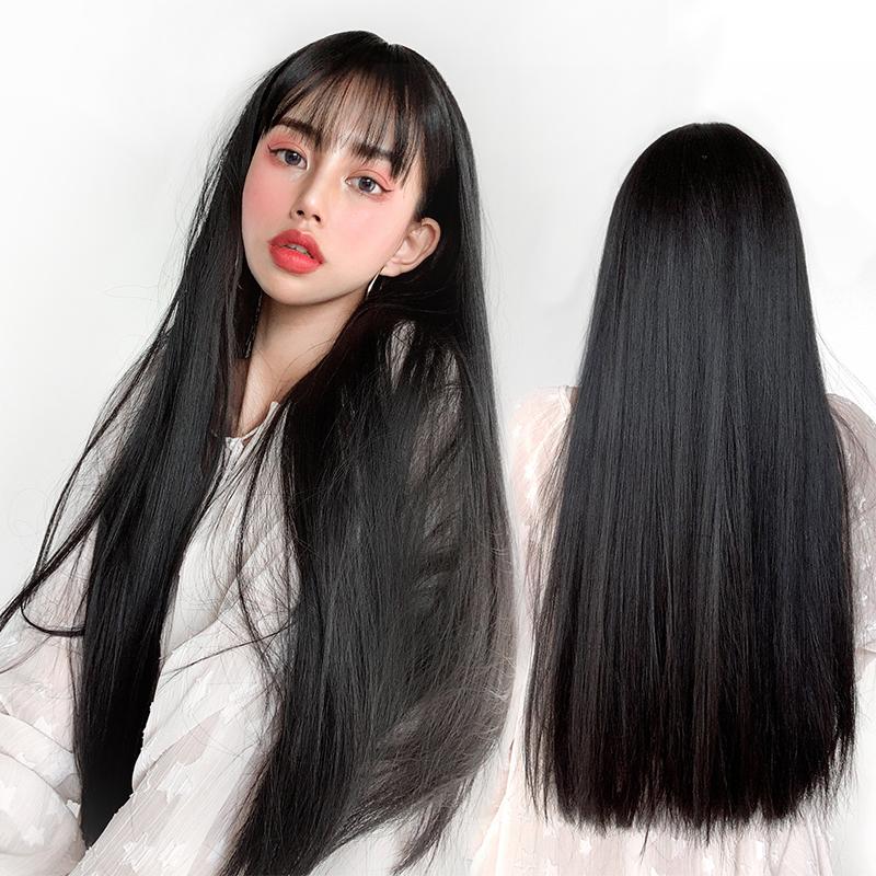 女长发自然全网红黑色长直发假发怎么样