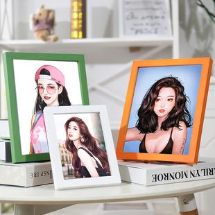 创意相框摆台挂墙5寸6寸7寸8寸10寸16寸A4画框实木质相框