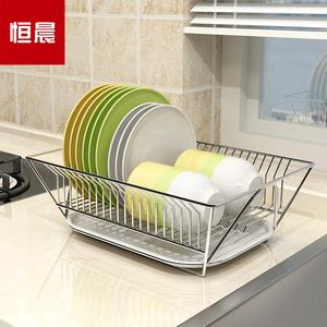 碗架304不锈钢碗碟沥水架单层厨房台面放碗盘碗筷餐具收纳置物架