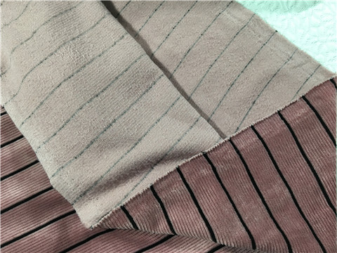 20211v2-1397 velvet soft skin can be used as wide leg pants dress with pink stripe