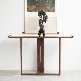 禅意新中式翘头条案玄关案台老榆木实木仿古供佛条桌家具