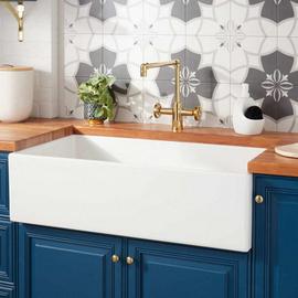 北欧复古美式厨房水槽 豪华式开放式橱柜 Farmhouse sink