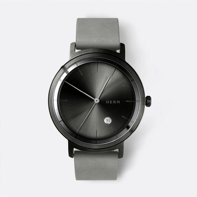 HERM原创英国设计德国制造小众极简中性手表腕表GREY/COOL GREY