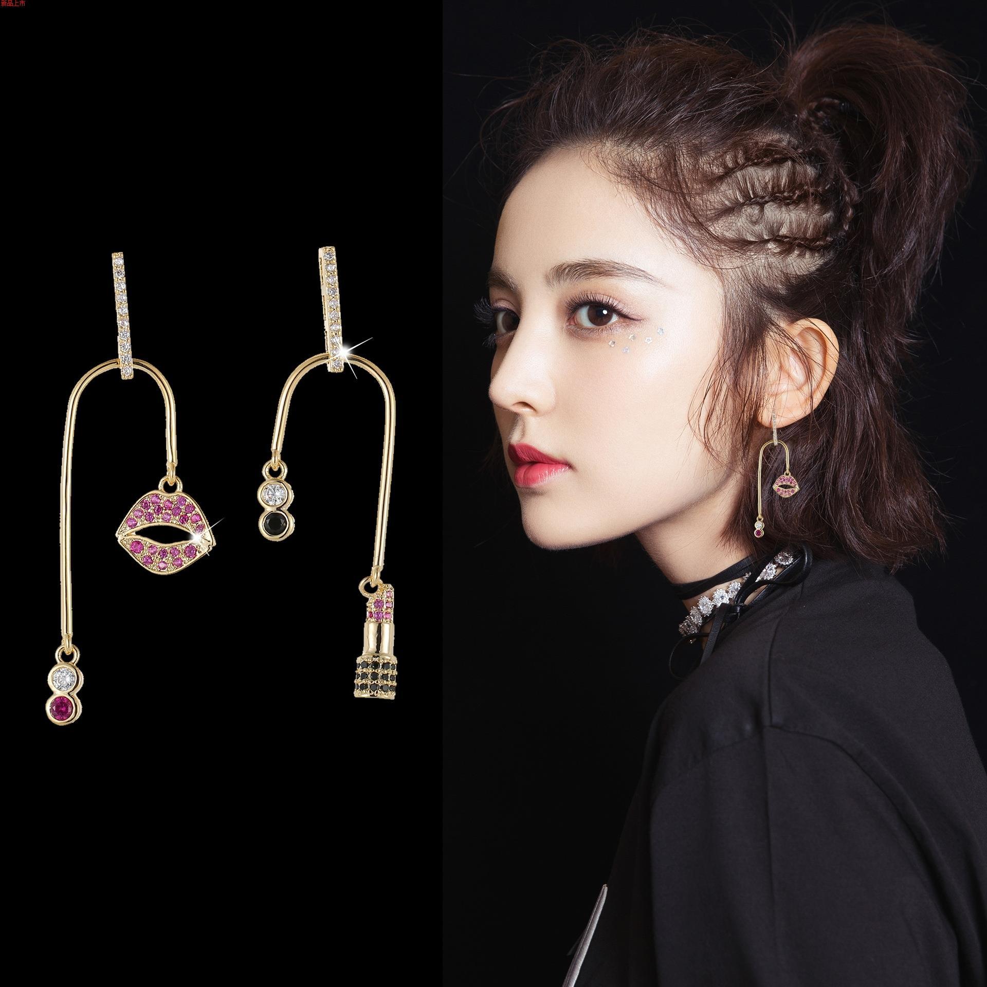 耳环韩版时尚气质奢华锆石流行耳饰品女士s925银防过敏