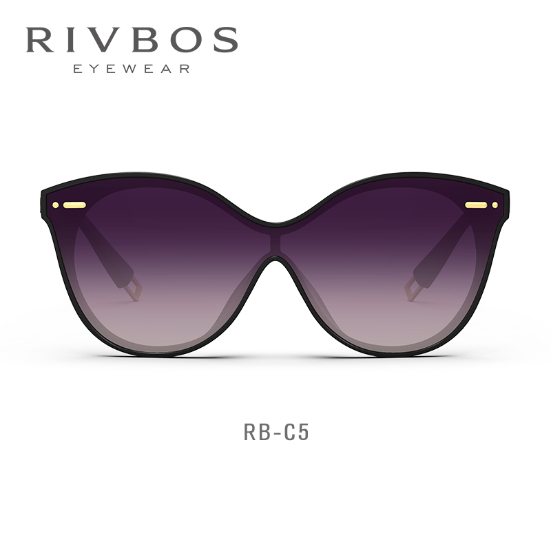 Rivbos-c5 new Polarized Sunglasses round face womens Sunglasses UV resistant GM glasses Korean version big face ins