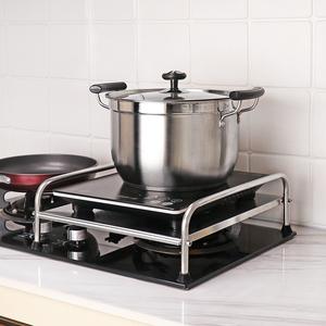 不锈钢厨房置物架电磁炉架子电饭锅放置架支架灶台燃气煤气灶盖板