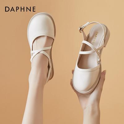 达芙妮包头凉鞋女仙女风2021年新款休闲女鞋夏季单鞋百搭玛丽珍鞋