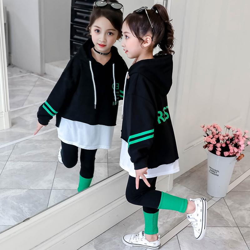 女童春装2020新款儿童洋气网红套装5大童装6春秋运动时髦韩版7岁8