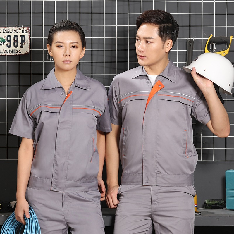 Custom work clothes installation hotel engineering department suit mens uniform logo short sleeve electrical clothing property summer elevator