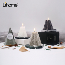 Lihome handmade ice fragrance scented candle purified air Nordic home decoration romantic birthday gift