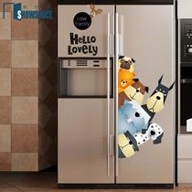 创意北欧冰箱贴纸厨房家具翻新改造装饰可爱贴画可移除防水自粘