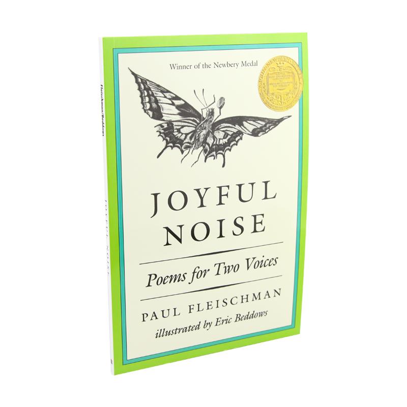 快乐的喧嚣 两个声音一起读的诗 英文原版 Joyful Noise Poems for Two Voices 1989年纽伯瑞金奖 8-12岁