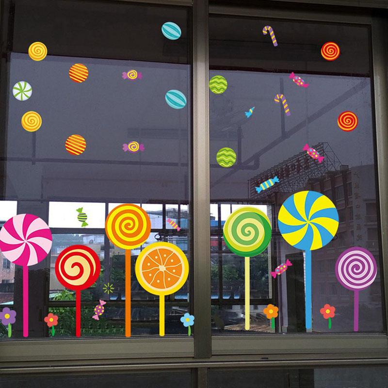 幼儿园场景窗户玻璃贴画托管班墙贴装饰卡通可爱双面门窗婴儿贴纸