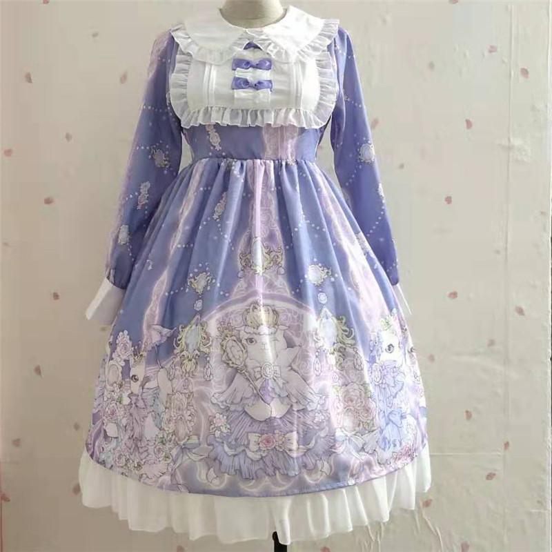 秋装女装新款日系软妹公主连衣裙子