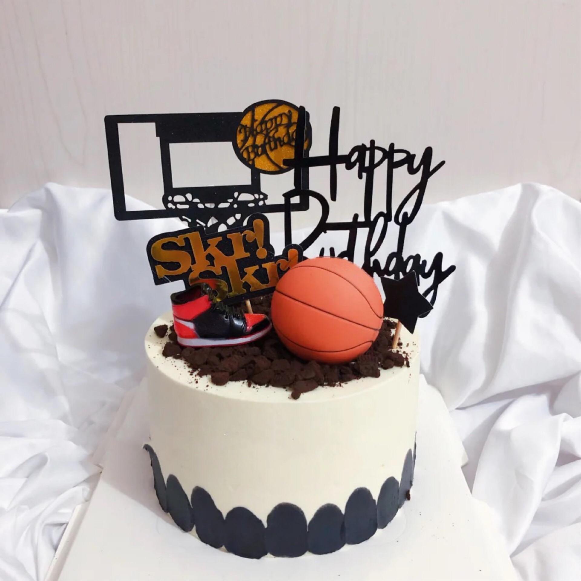Cake decoration mini basketball shoes athlete boy God birthday party theme dessert table dress up