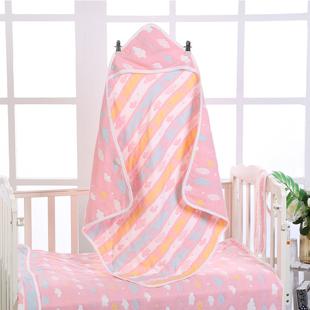 纯棉六层纱布抱被新生婴儿包巾 初生宝宝用品春秋冬夏6层毛巾抱毯