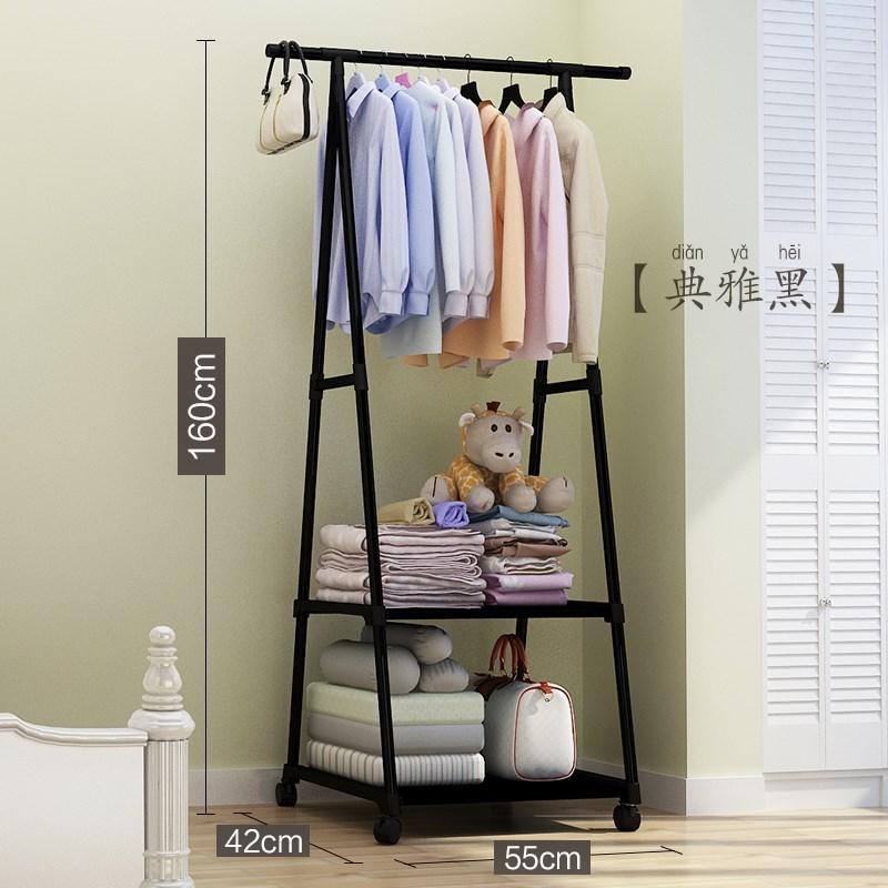 单杆简易小型家用卧室内折叠伸缩44.63元包邮