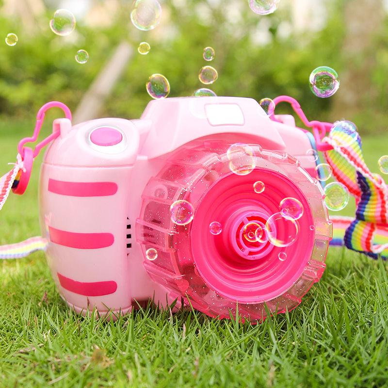 (用1元券)儿童玩具电动泡泡相机抖音同款网红少女心吹泡泡枪全自动带灯光棒