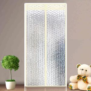 家用空调门帘半透明隔断客厅磁性免打孔防冷气塑料软门帘挡风遮光