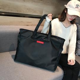 短途旅行包女手提简约行李包大容量旅行袋轻便防水单肩包健身包男图片