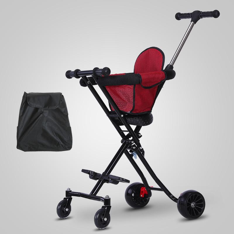 118.80元包邮遛娃溜娃神器儿童三轮车手推车轻便携可折叠1-3-5岁宝宝带娃神器