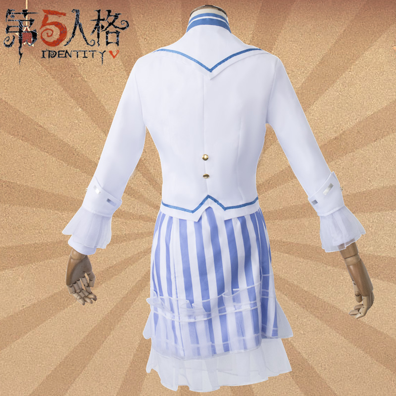 Cosply clothing female cos clothing fifth personality air force Qionglou regret wig clothes shoes Cosplay sets.