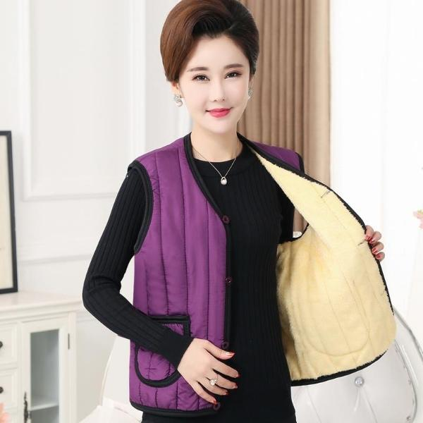 Oversize with cold resistant cotton vest vest vest, warm and antifreeze for the elderly, cardigan for middle-aged men, fashionable plush