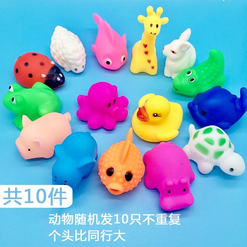 大号家用宝宝发声可捏叫鸭子有声戏水洗澡玩具带游泳圈软胶婴儿儿
