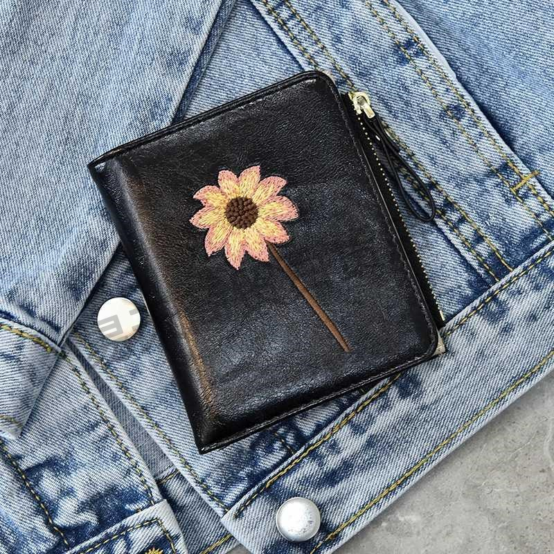 Womens wallet 2020 new simplicity cold retro small small compact ultra-thin zero wallet card bag in one