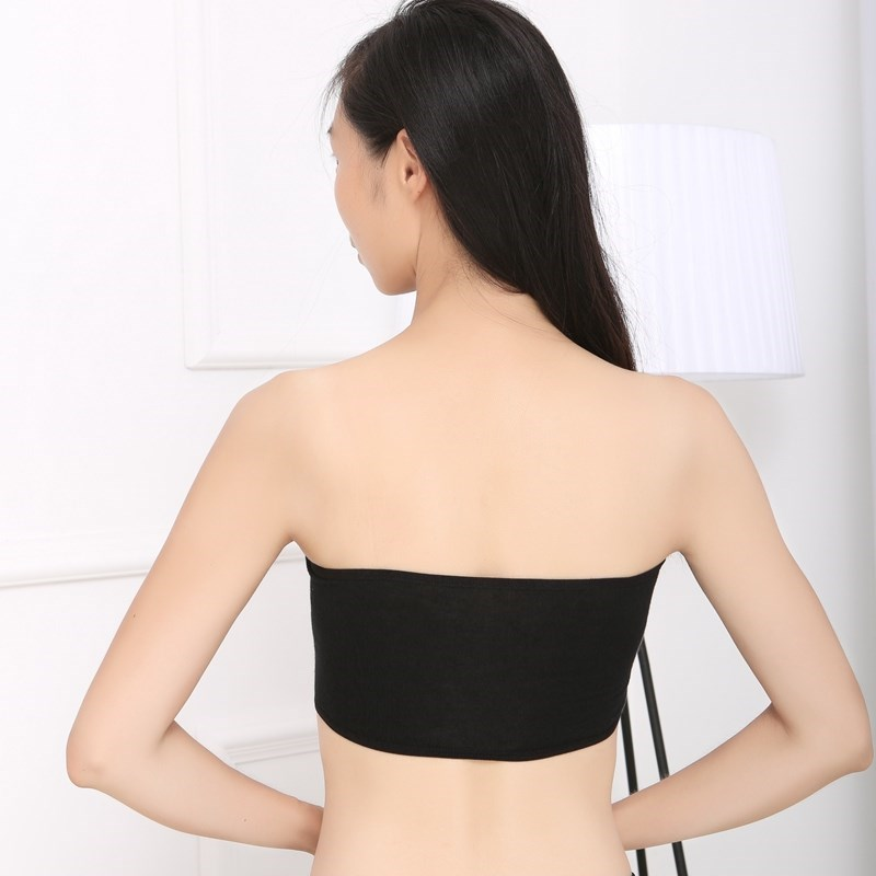 All in one girls breast one piece wrapped fruit chest Strapless summer non slip vest soft short off shoulder