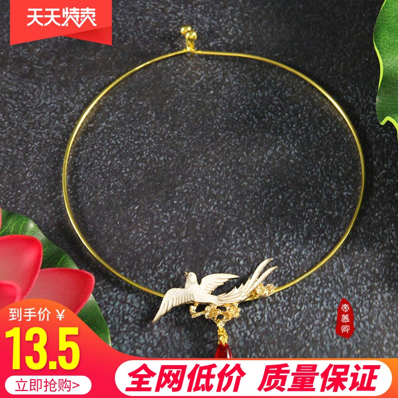 The original handmade ancient style necklace Necklace necklace, the Chinese clothing of Yingluo Yan, the fringes, the fairy maiden of the Wei, Jin and Tang Dynasties.