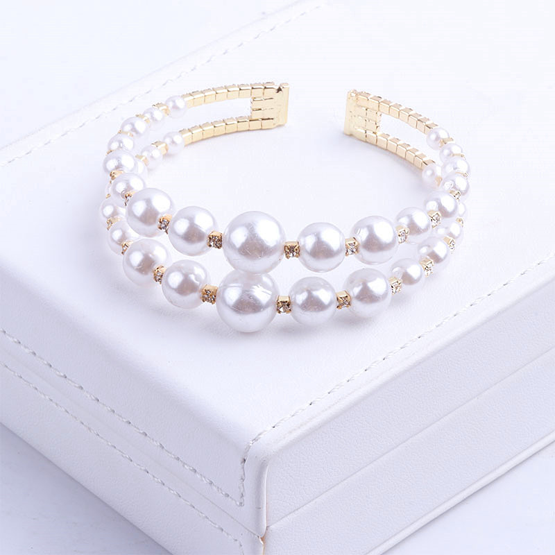 Personalized Pearl Bracelet Red opening accessories womens products boast Bracelet inlaid with hundreds of clothes mesh with fashionable cuffs