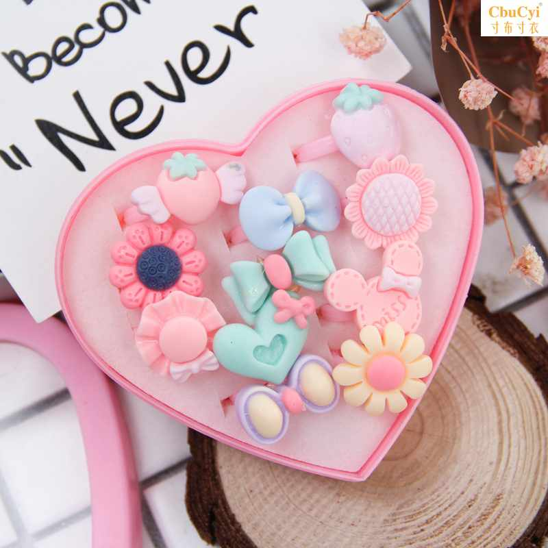 CUDA childrens hair circle lovely childrens toy ring girls plastic hair accessories heart-shaped girl Princess card