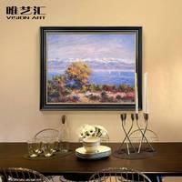 。唯艺汇手绘现代欧式客厅装饰画餐厅风景油画卧室玄关走廊莫奈挂
