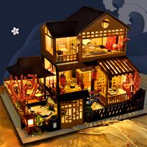 音乐盒八音盒木质天空之城房子diy生日礼物女生三八节送老婆惊喜