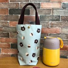 便携防水便当袋大号水杯袋帆布焖烧壶手提袋保温桶袋子学生带饭包