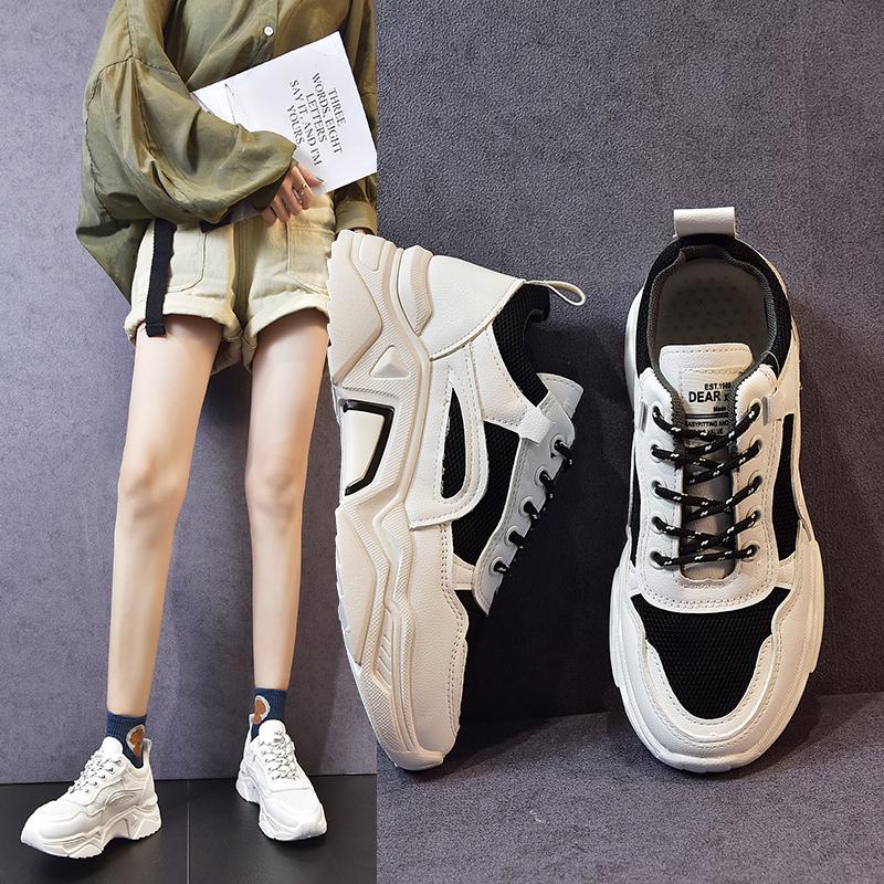 ins老爹鞋女2019夏秋新款韩版小白鞋网鞋百搭透气跑步休闲运动鞋