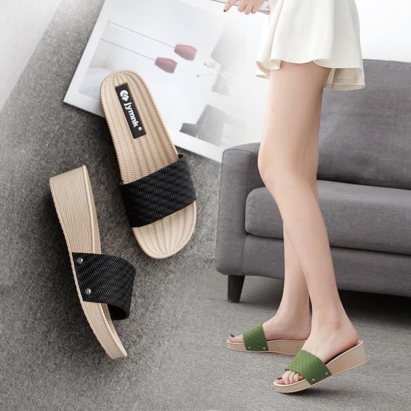 拖鞋女外穿高跟女款凉拖 2020时尚百搭增高厚底ins气质夏网红同款