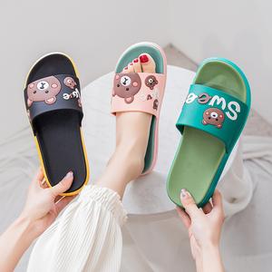 拖鞋女外穿夏天家用室内静音防滑防臭卡通可爱浴室凉拖鞋2021新款