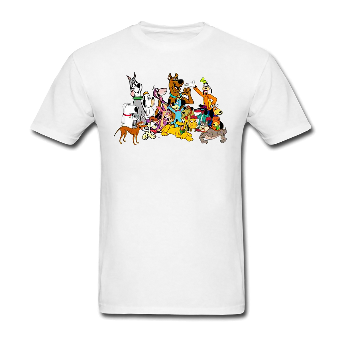 Dog Scooby mimics cartoon short sleeve T-shirt for men and women