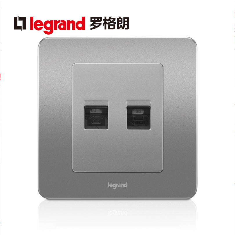 Legrand switch socket panel Yidian alcohol sand steel telephone computer network voice signal 86