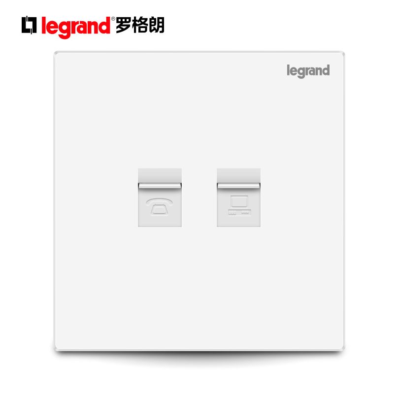 TCL Legrand two digit computer telephone line network cable two in one panel socket two port information + Voice