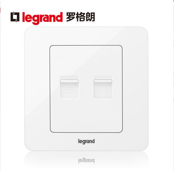 TCL Legrand super class 6 computer network cable + telephone socket panel class 6 gigabit network port voice socket